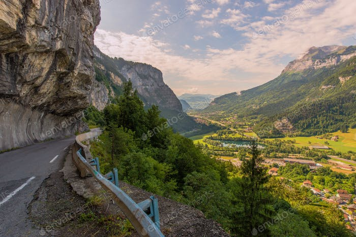 French Countryside Cliff Road