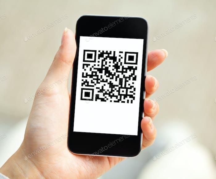 Código QR en el móvil