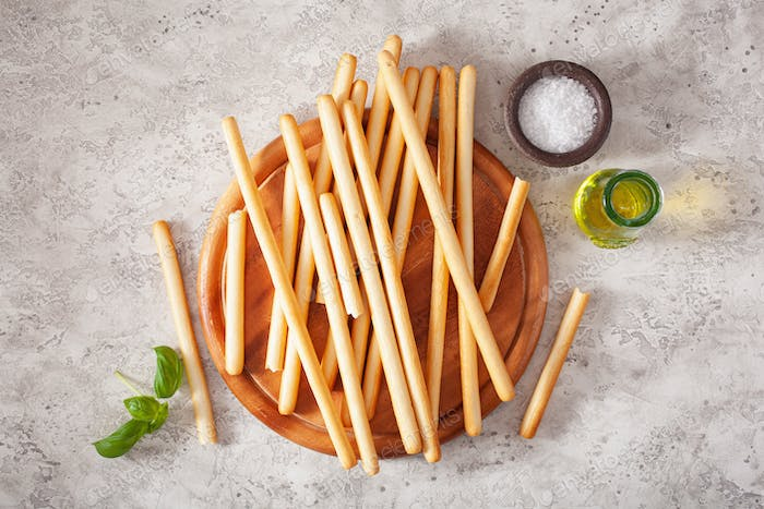 grissini crispy italian bread sticks.