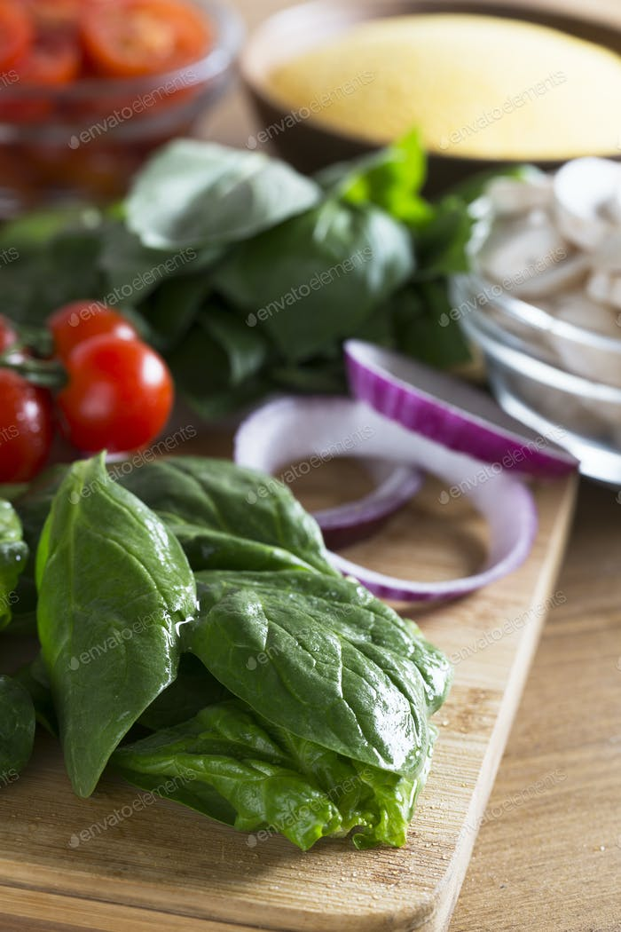 Spinach and other Fresh Ingredients