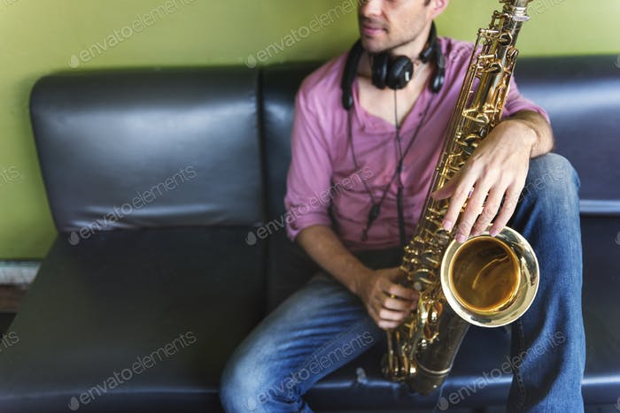 Saxophon Symphonie Musiker Jazz Instrument Konzept