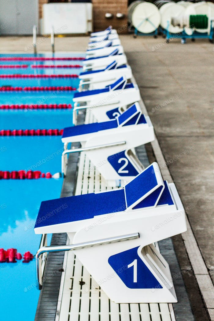 Olympic Pool Starting Blocks