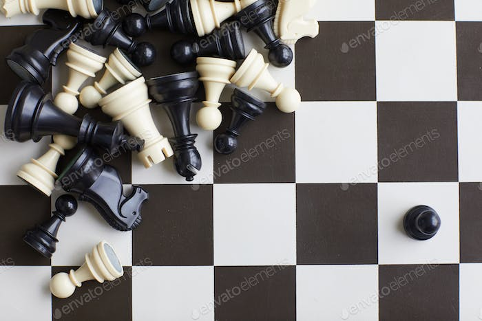 Chess pieces on board