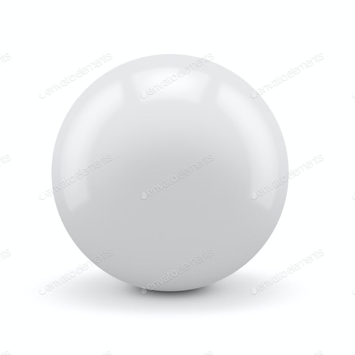 White sphere isolated
