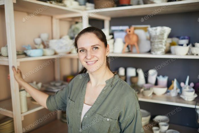 Happy Female Ceramist
