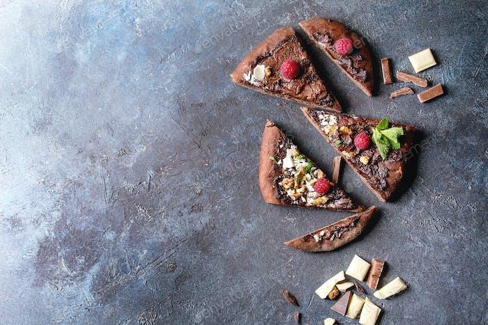 Dessert chocolate pizza