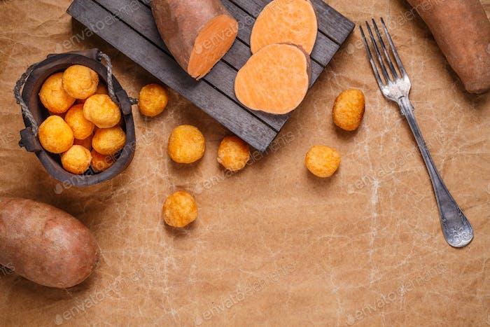 Süßkartoffelkroketten