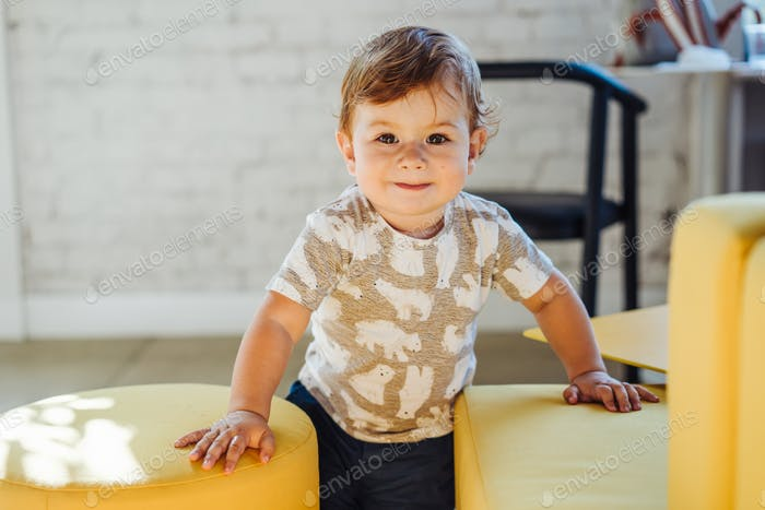A portrait of happy cute little boy