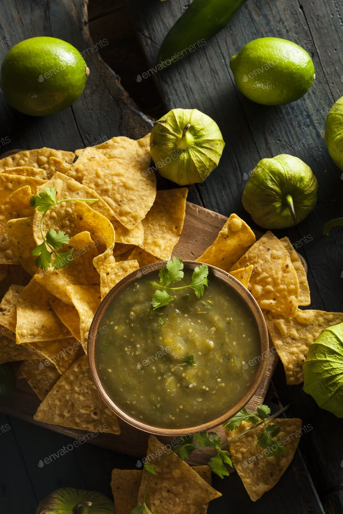 Homemade Salsa Verde with Cilantro