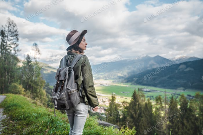 Young attractive woman in Austria