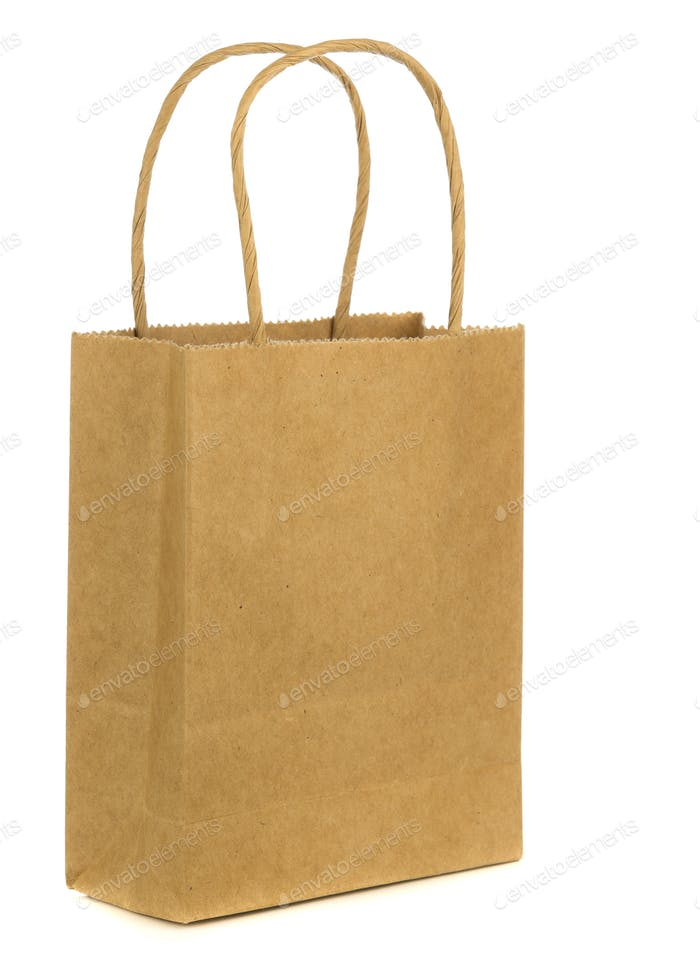 A Brown Paper Shopping Bag