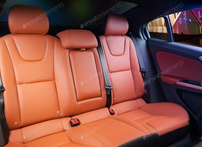 Auto Interieur orange Leder