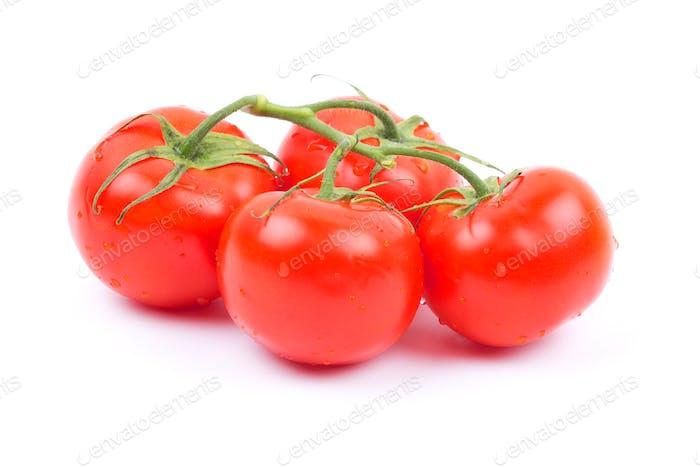 Frische Tomaten mit Blättern