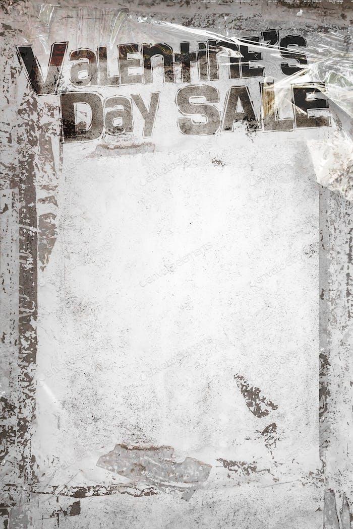 Valentine's Day Sale grunge background