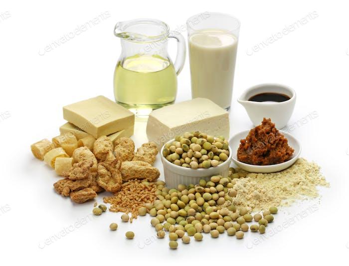 Sojabohnenprodukte, japanische gesunde Lebensmittel