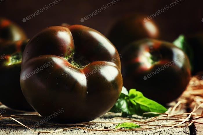 Große schwarze Tomaten