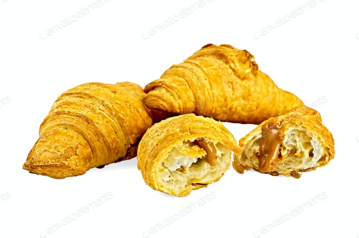 Croissants with sweetened condensed milk