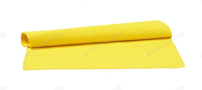 Yellow ribbed cotton placemat
