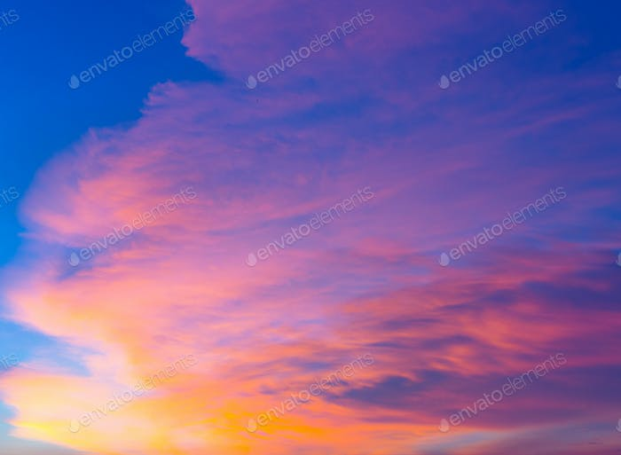 Cloudscape during sunset