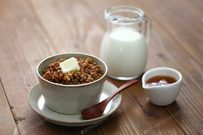 kasha, buckwheat porridge