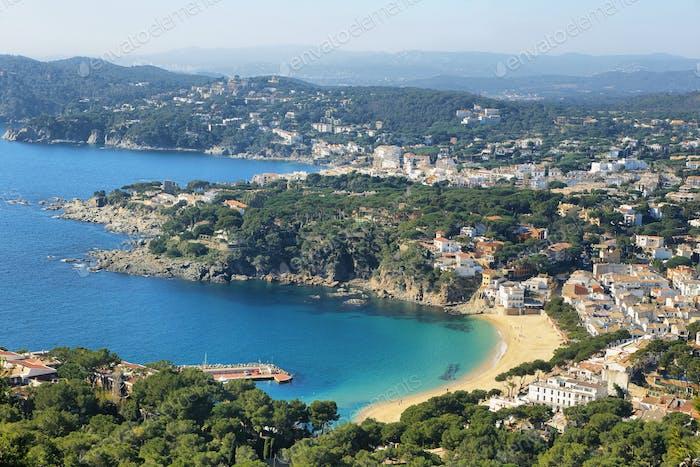 Seascape mediterranean sea in Costa Brava in Catalonia,Spain.