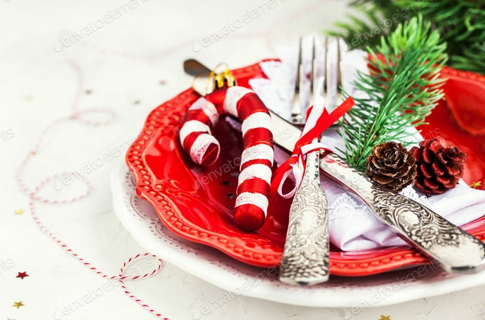 Christmas table, holiday background