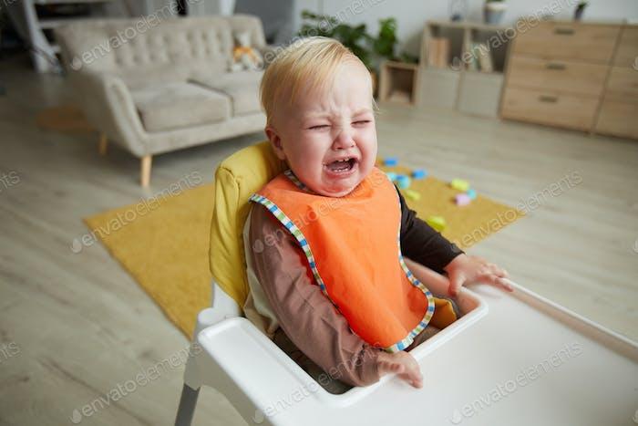 Baby boy crying