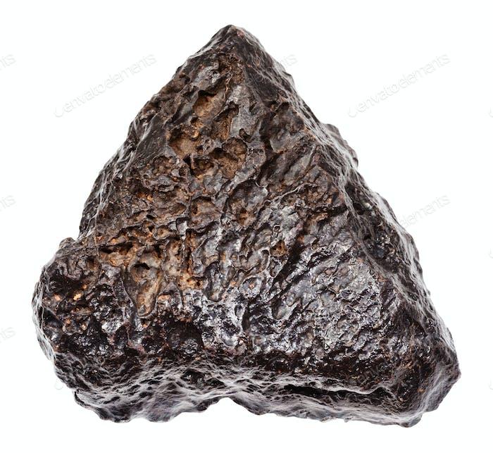 grober Hämatit Stein isoliert auf weiß
