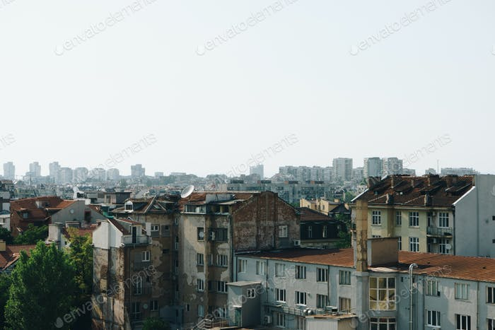 Panoramic view of Sofia city, Bulgaria