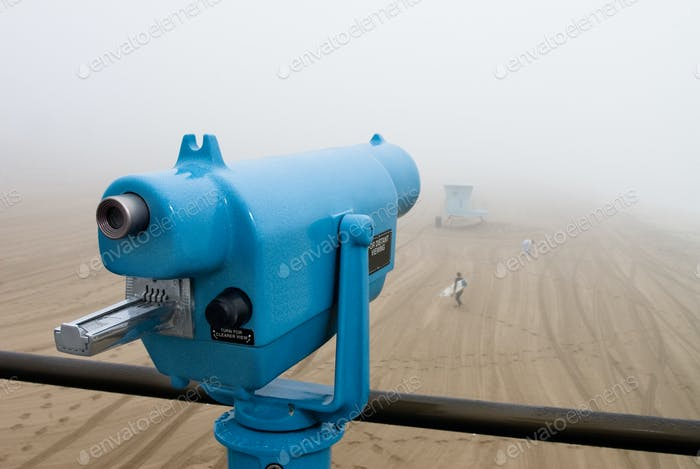 Telescope on pier