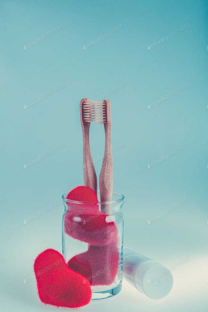Beige Zahnbürste
