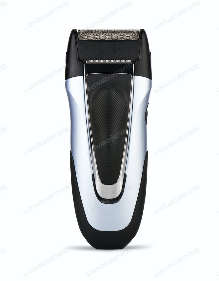 Electric shaver on white background ( clipping path )