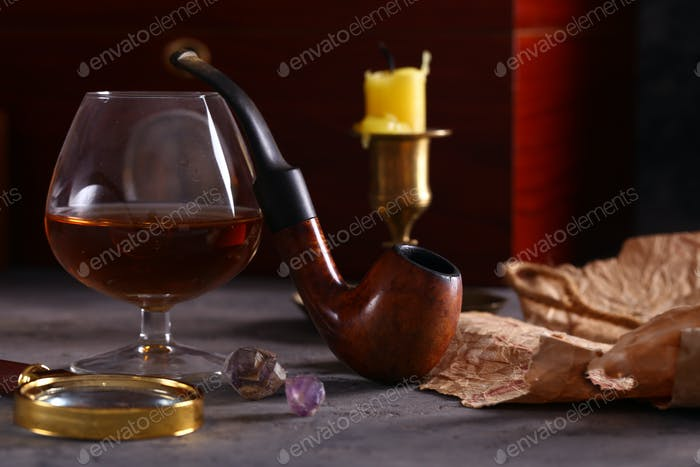 Pipe for Smoking and Alcohol