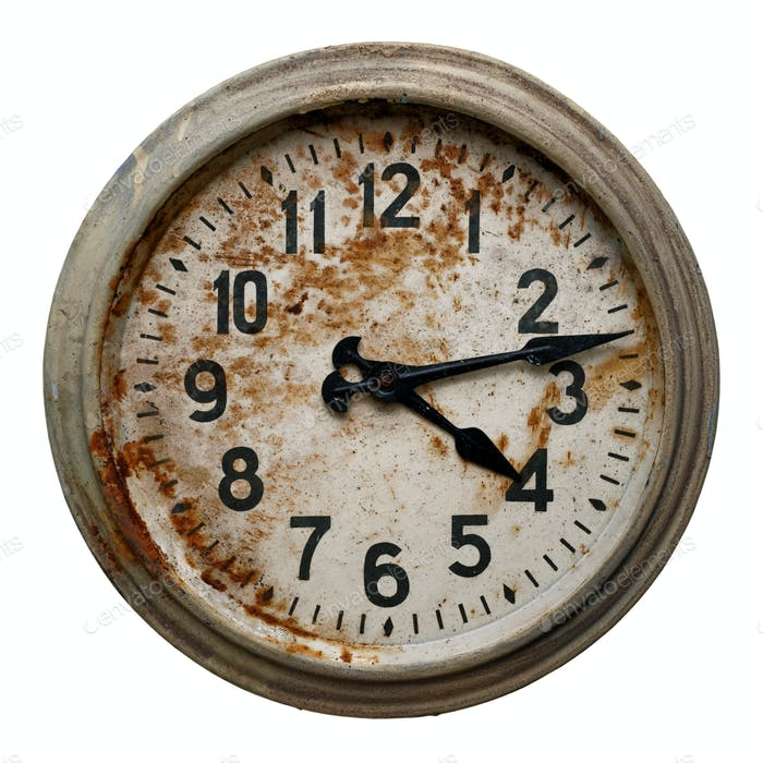 Very old round wall clock