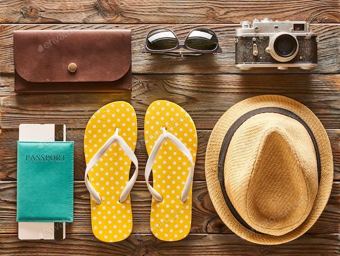 Plat de voyage et plage