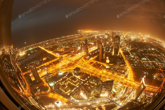 Dubai night skylin