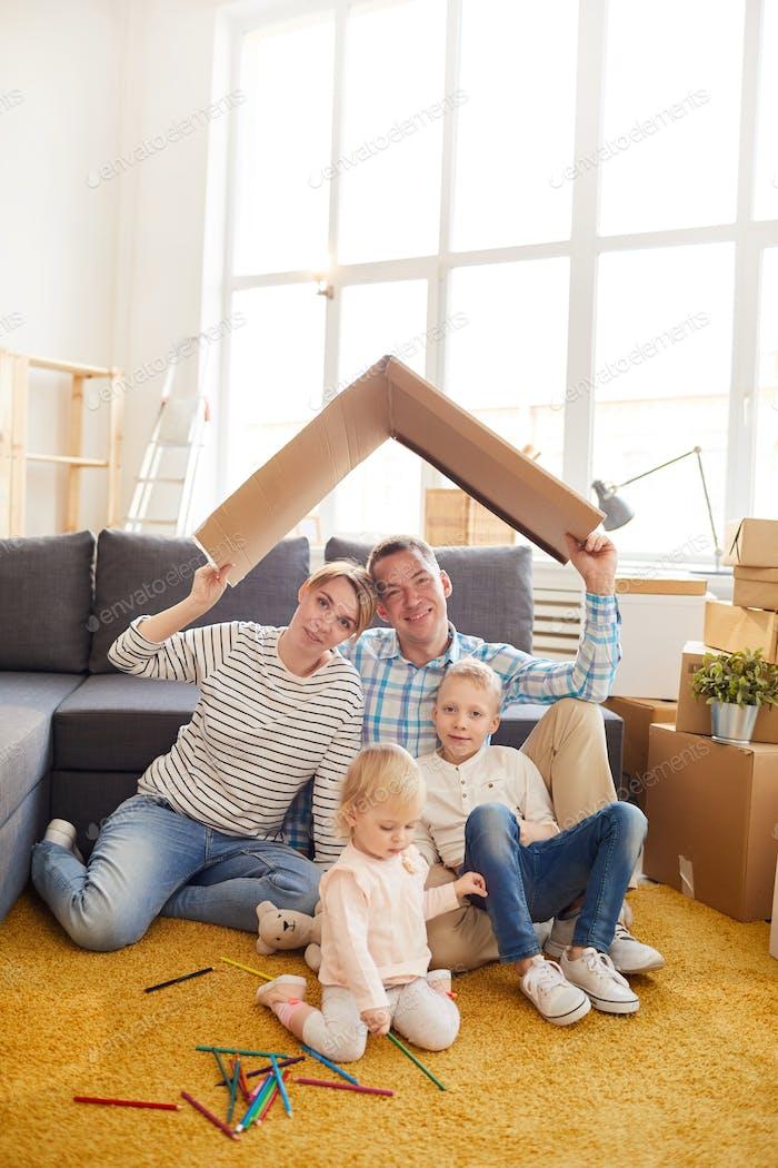 Family imaging new house