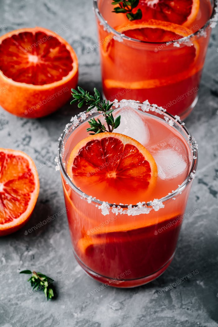 Blood Orange Sparkling Vodka cocktail
