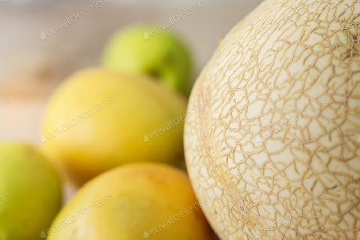 surface of melon on floor