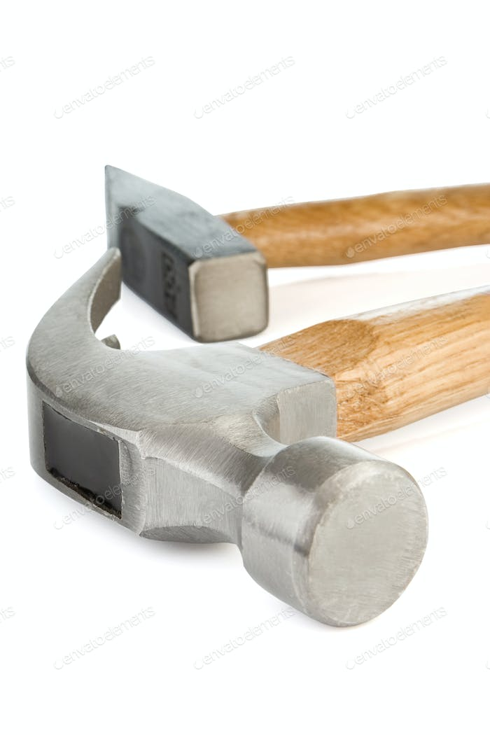 hammers isolated on white