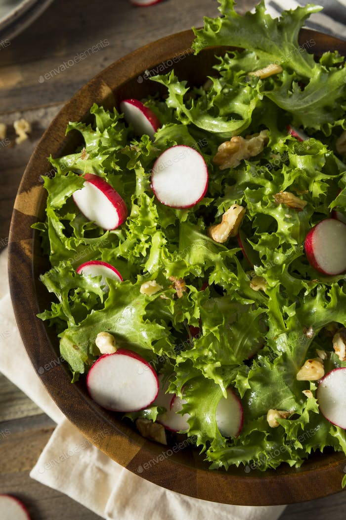 Raw Organic Endive and Radish Salad
