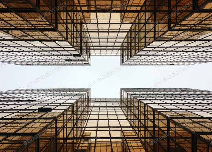 Hong Kong Skyscaper Building Reflection