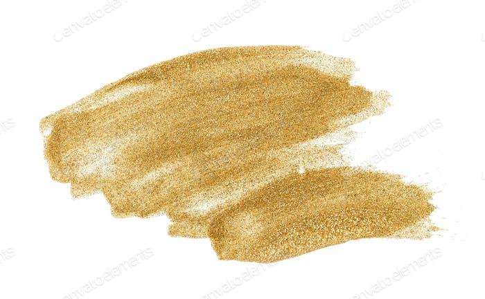 gold color glitter nail polish