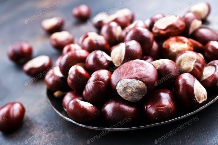 Thumbnail for raw chesnuts