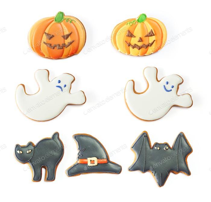 Halloween gingerbread cookie set