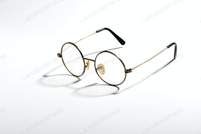 Pair of old vintage spectacles