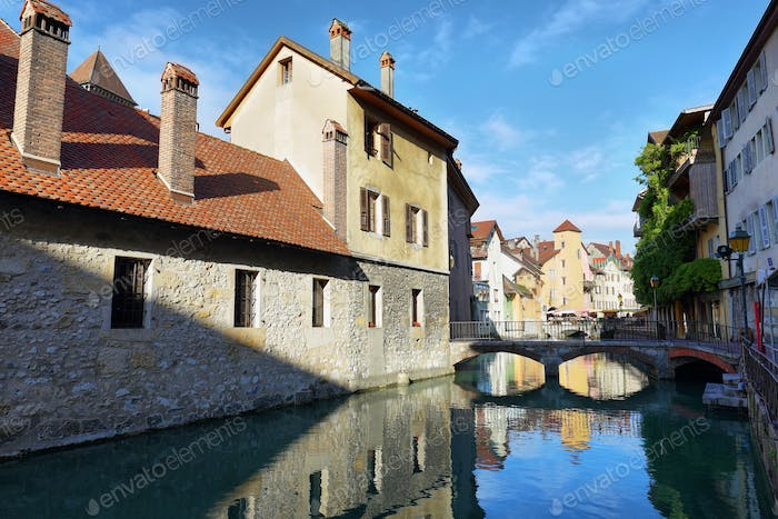 "The ""Palais de l'Ile"" in Annecy, historical city of France"