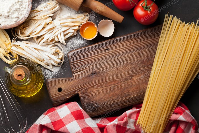 Pasta cooking ingredients