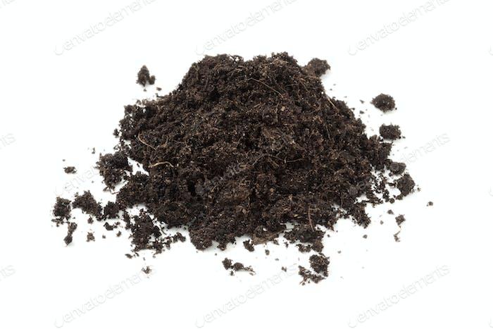 Heap of black soil