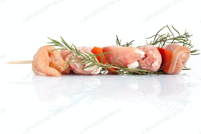 pork skewer with rosemary
